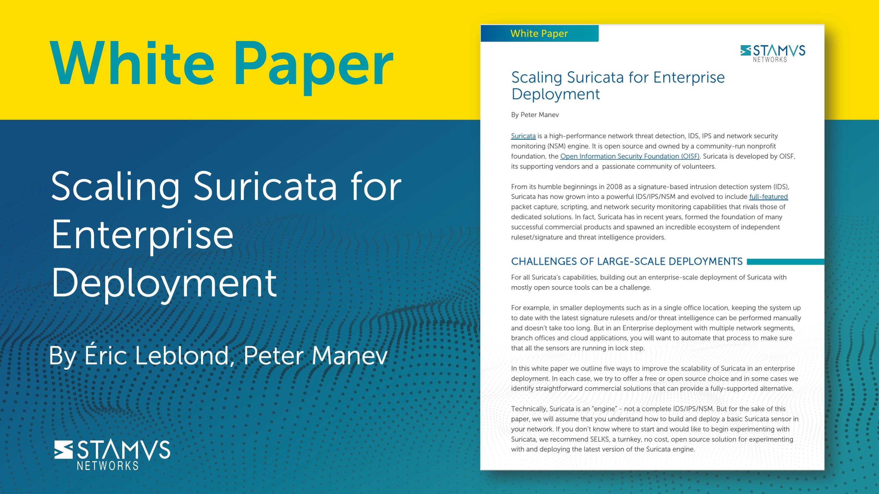 Scaling Suricata for Enterprise Deployment