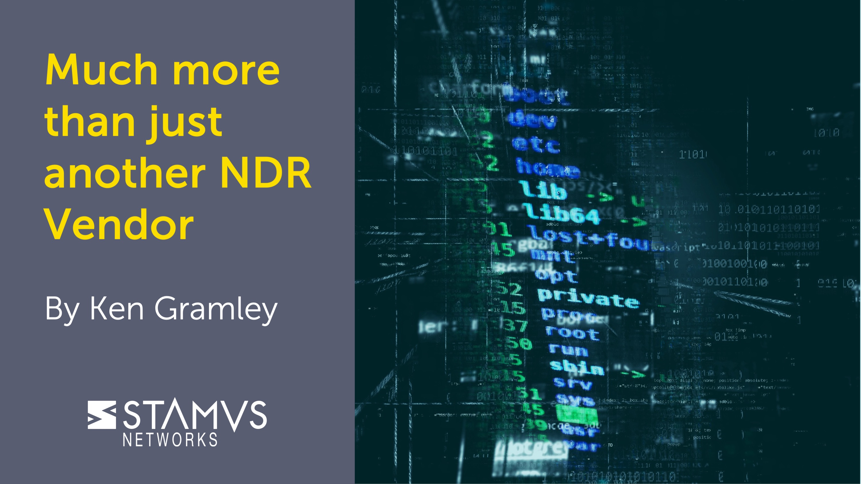 Stamus Networks - More than just another NDR Vendor